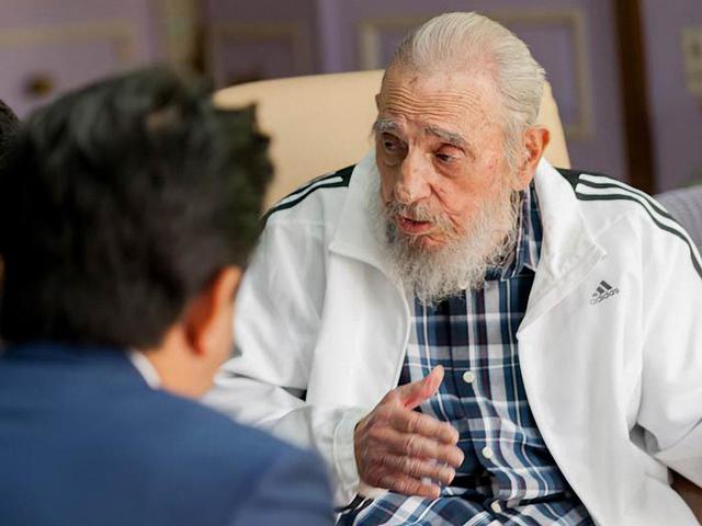 El líder comunista cubana, Fidel Castro, durante una entrevista en septiembre 2016. Archivo Afp