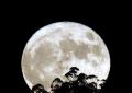 La Superluna más grande y luminosa, Salida de la luna esta tarde en Puentedeume (La Coruña)