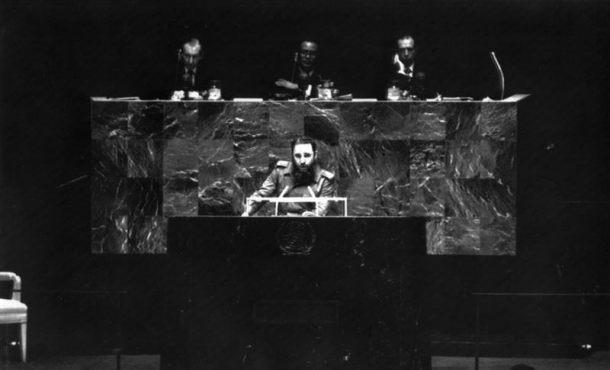 imagen de archivo del expresidente cubano Fidel Castro durante su discurso ante la Asamblea General de las Naciones Unidas. Archivo Efe.
