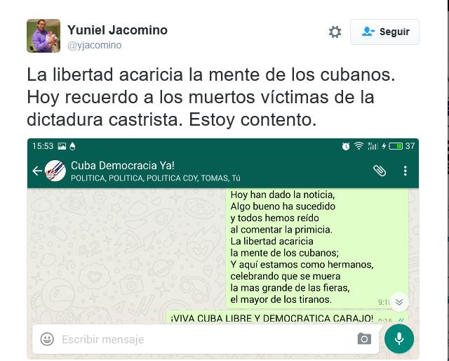lasvocesdelpueblo-captura-pantalla-del-twitt-del-presidente-de-cuba-democracia-ya-sobre-la-muerte-de-fidel-castro