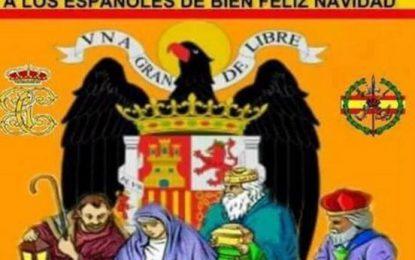 """PP de Alella (Barcelona) a lo grande: """"Una Gran y Libre, a los españoles de bien Feliz Navidad"""""""