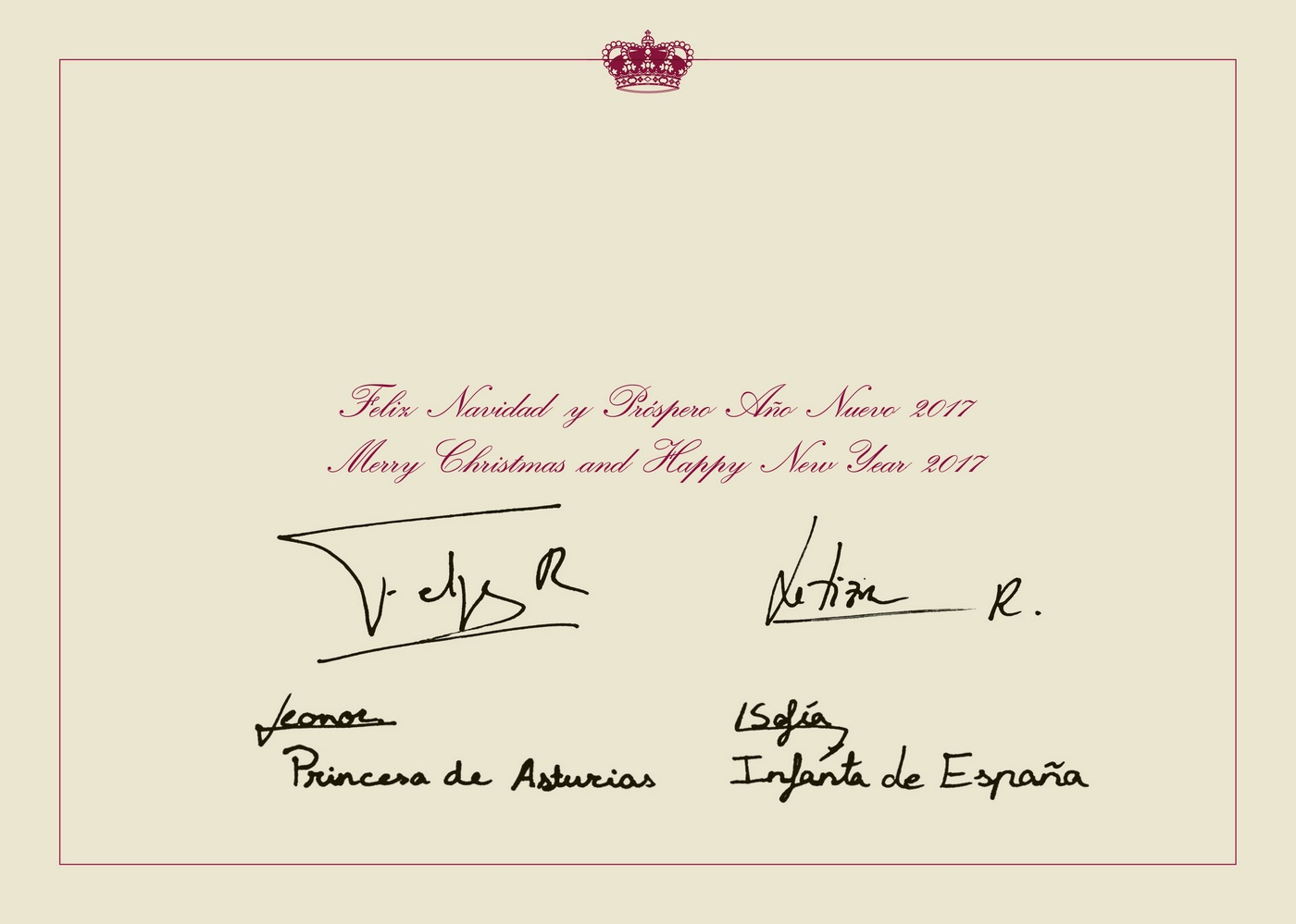 Felicitación de Navidad de Sus Majestades los Reyes. Lasvocesdelpueblo.