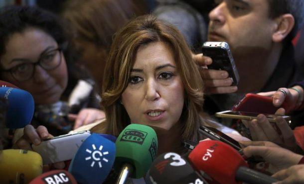 La presidenta andaluza, Susana Díaz, hace declaraciones tras la reunión del Comité Federal del PSOE. Efe