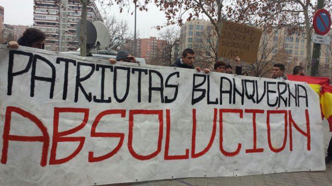La Justicia suspende el ingreso en prisión de madrileños del escrache patriótico de «Blanquerna»