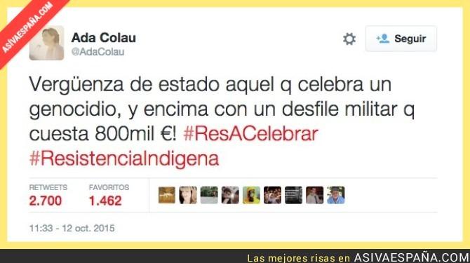 """Democracia Nacional: """"Todos los amigos separatistas de Ada Colau celebran el genocidio de los musulmanes llevado a cabo en Mallorca sin que ella diga nada ¿los genocidios son buenos si son para formar los 'Países catalanes?"""". Lasvocesdelpueblo"""