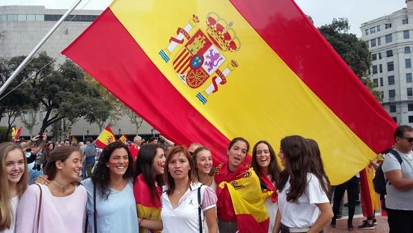 """Llaman a la movilizacón con """"bandera de España"""" hoy ante la sede de ANC en Barcelona contra el 1-O"""