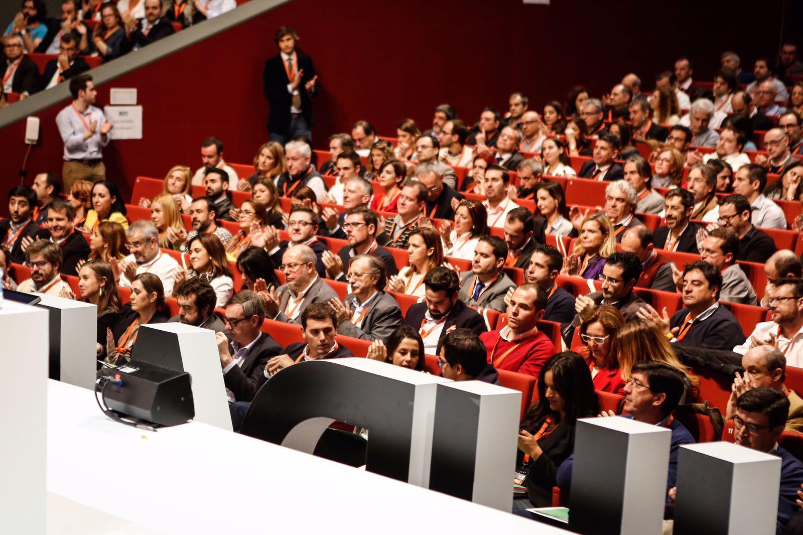 Madrid (España), la militancia y cargo de Ciutadans Partido de la Ciudadanía Ciudadanos, hoy durante la Asamblea del partido. Lasvocesdelpueblo.