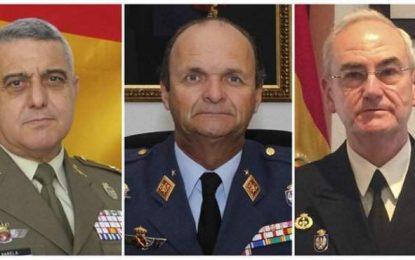 Los nuevos Jefes de Estado de Ejércitos de Tierra, Aire y Armada de España tomarán posesión el lunes