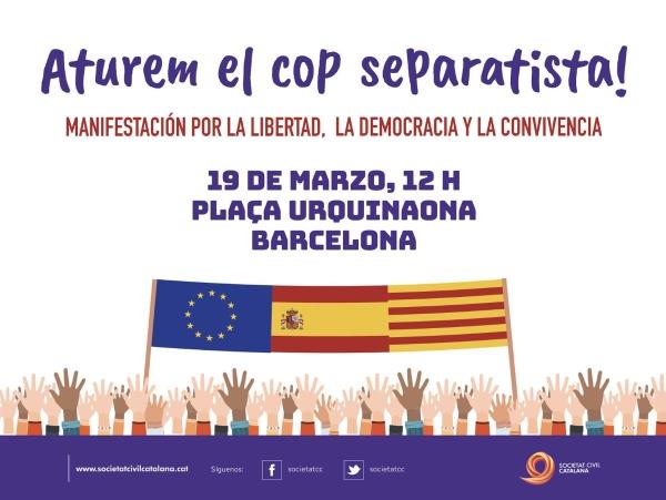 """Barcelona se inundará este domingo del orgullo español para rechazar """"el golpe a la democracia"""""""