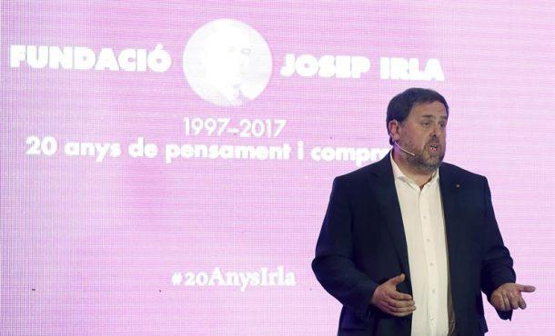 """Junqueras (ERC) dice que el Gobierno catalán """"lo tiene todo preparado"""" para un referéndum"""