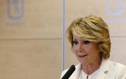 """Aguirre: """"Mi manera de concebir la política me lleva"""" a presentar mi """"dimisión"""" como edil y portavoz del PP"""