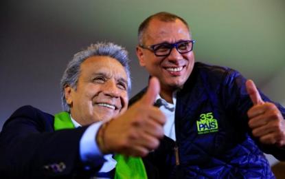 Ecuador: Lenín Moreno (izquierda) aventaja a Guillermo Lasso (Derecha) con el 94,18 % votos escrutados