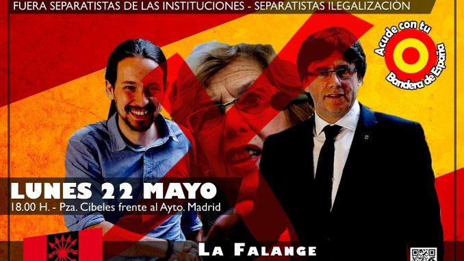 """Valientes españoles: """"No vamos a faltar a esa cita"""" de Puigdemont y Pablo Iglesias del 22M en Madrid"""