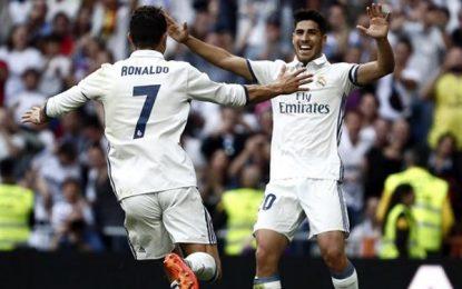 'Tirón de orejas' del Real Madrid a Sevilla (4-1) y mensaje directo al FC Barsa: esta liga es blanca