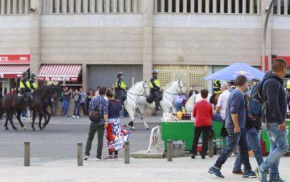 25 heridos en las inmediaciones del estadio Vicente Calderón durante Atlético-Real Madrid