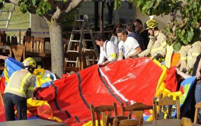 """1 niña en estado crítico y 2 menores graves al """"volar"""" un castillo hinchable en Caldes de Malavella (Gerona)"""