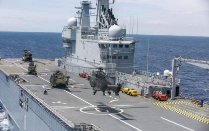 El Ejército de Tierra español y Armada francesa realizan maniobras conjuntas en el Mediterráneo