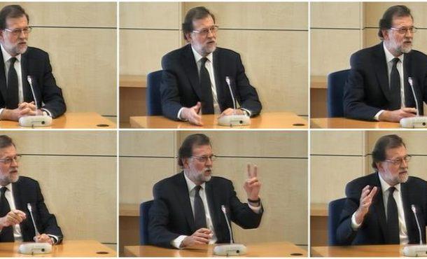 Rajoy termina su declaración ante Tribunal del Gürtel negando favores a Bárcenas pese al 'SMS'