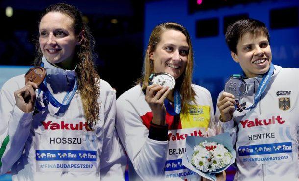 La española Mireia Belmonte, medalla de ORO en los 200 mariposa enBudapest (Hungría)