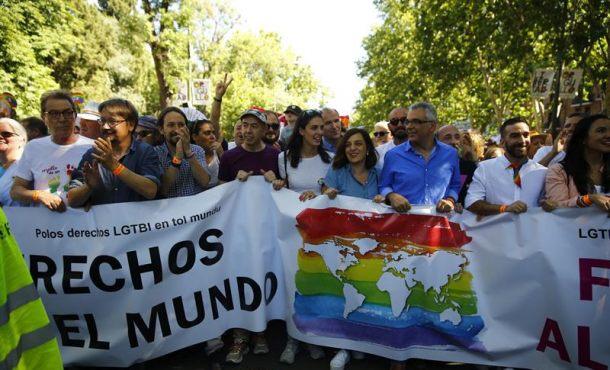 Miles de personas con Andrea Levy (PP) participan en Madrid en Orgullo Gay 2017 (LGTB)