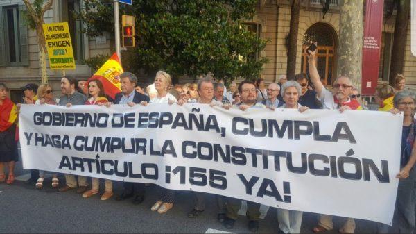 Piden en Barcelona que el Gobierno de la Nación cumpla y haga cumplir la Ley y aplicación del 155