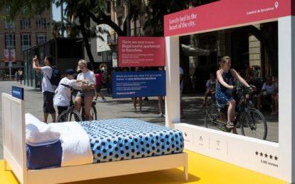 Ada Colau instala habitaciones en las calles más céntricas y transitadas de Barcelona