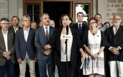 Ada Colau se hace ahora la foto con los ricos de Barcelona tras el atentado islamista