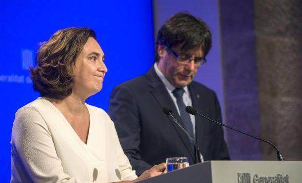 """Colau: """"Los catalanistas vamos a la salir a la calle a defender"""" el separatismo catalán sin """"miedo"""""""