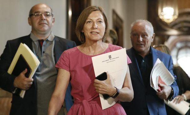 Forcadell denuncirá ante Tribunales a Rajoy y Soraya por plantar al Parlamento catalán