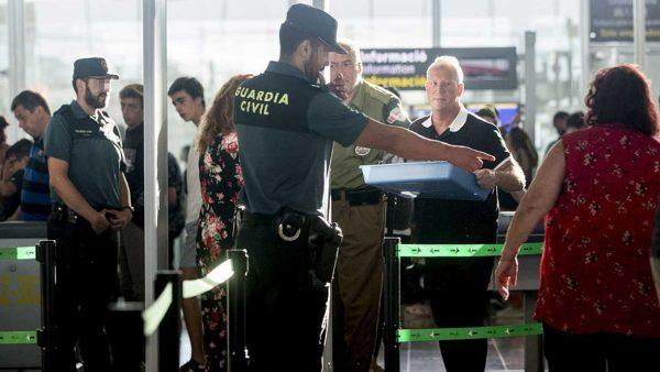 Tranquilidad en 'El Prado' con la Guardia Civil en líneas de control de seguridad