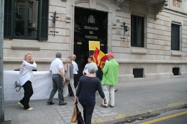 Somatemps convoca una concentración ante la Delegación Gobierno Barcelona contra el 1-O