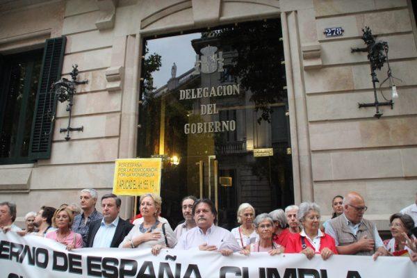 """Todos ante Delegación del Gobierno en Cataluña el 16-A por """"convivencia entre españoles"""""""
