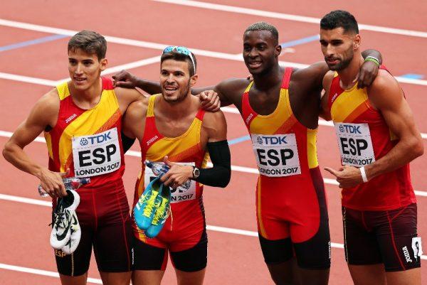 El relevo español 4×400 por tercera vez en una final mundial