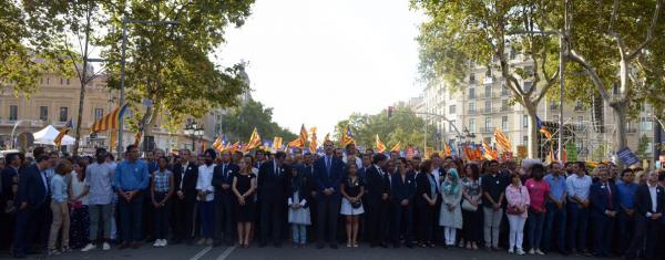 """Iglesias: """"Es un día muy emocionante"""" en Cataluña, pitada al Rey y Estrelladas: """"libertad de expresión"""""""