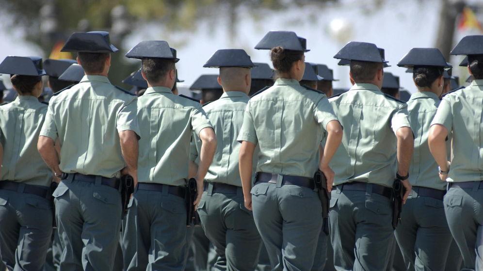 Una promoción de la Guardia Civil en la Academia de Baeza (Jaén). Archivo Efe