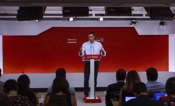 El PSOE propone una comisión en el Congreso sobre la crisis separatista en Cataluña