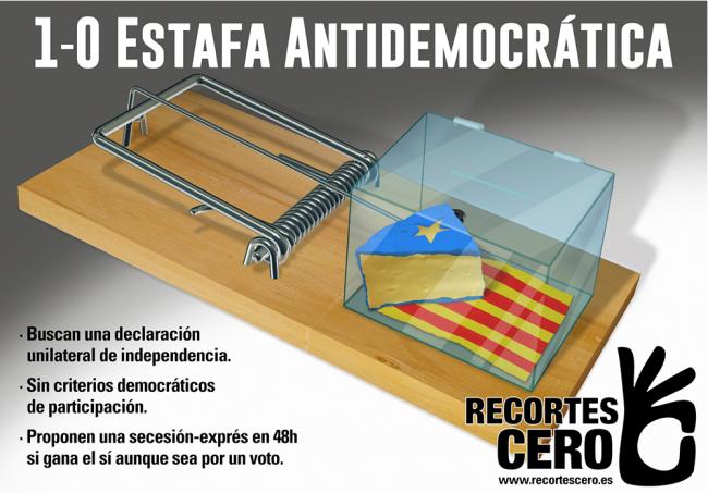 """La Izquierda catalana denuncia la """"estafa antidemocrática"""" en un manifiesto contra el 1-O"""