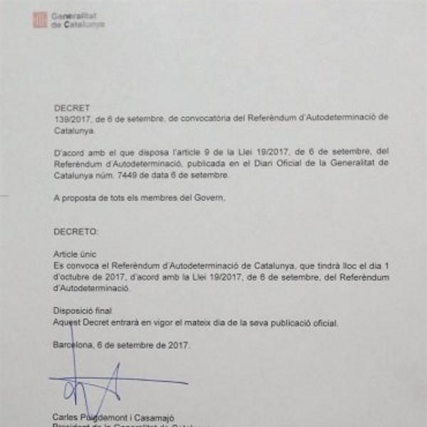 Puigdemont publica detalles del 1-0 y abre inscripción de voluntarios para organizarlo