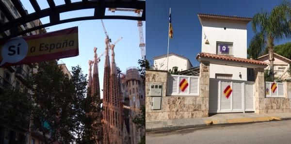 Cataluña contesta al separatismo españolizando casa y calles del centro de Barcelona