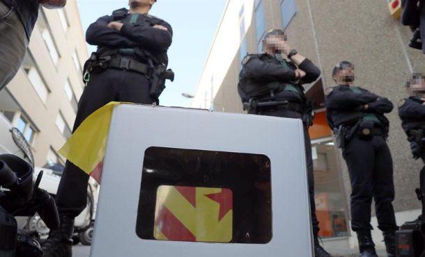 Cifran en 10 millones las papeletas del 1-O que la Guardia Civil se ha incautado hoy en Barcelona