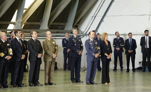 Despedida del capitán Borja Aybar que falleció el 12-O tras estrellarse el Eurofighter que pilotaba