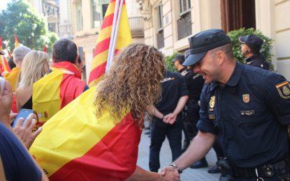(UIP) de Policía y (GRS) de Guardia Civil en Cataluña ante agresiones y amenazas de Torra