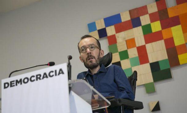 """Podemos: """"Llamamos al PP para que no agreda"""" a separatistas y """"no cause heridos"""" en Cataluña"""
