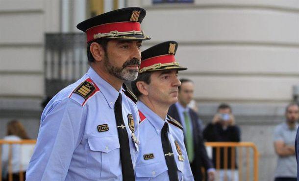 Uno de los líderes del 23-F (1-O), el jefe de Mozos de Escuadra, ya está declarandopor sedición