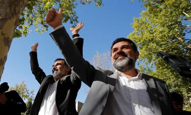 """La Justicia rechaza poner en libertad a los """"Jordis"""" de ANC y Ómnium"""
