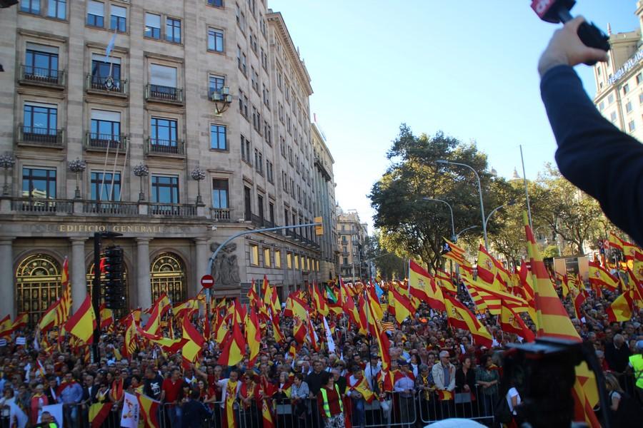 """Los catalanes pacíficos clamarán mañana 11-N en Gerona con """"banderas de España y Cataluña"""""""