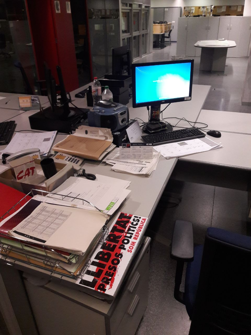 Filtran imagen del despacho del Caporal separatista de los Mozos enSan Andrés de la Barca