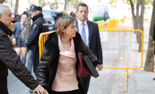 El fiscal pide prisión para la golpista Forcadell y diputados por facilitar la DUI