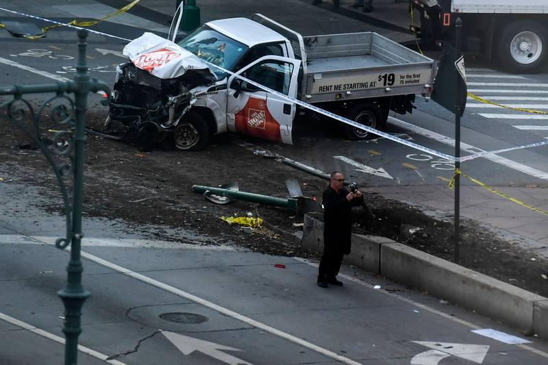 Un atropello terrorista islamista en una avenida de Nueva York (EEUU) mata a 8 personas