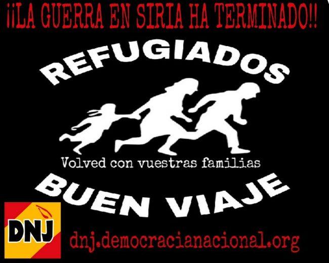 """DNJ exige la """"expulsión de refugiados"""" de España por """"invasores militares contra la cristiandad"""""""
